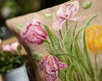 Cross stitch pattern TULIPS  cross stitch,needlepoint,embroidery pattern,botanical,burlap pillows,swedish,floral pillow,garden,homewares,diy