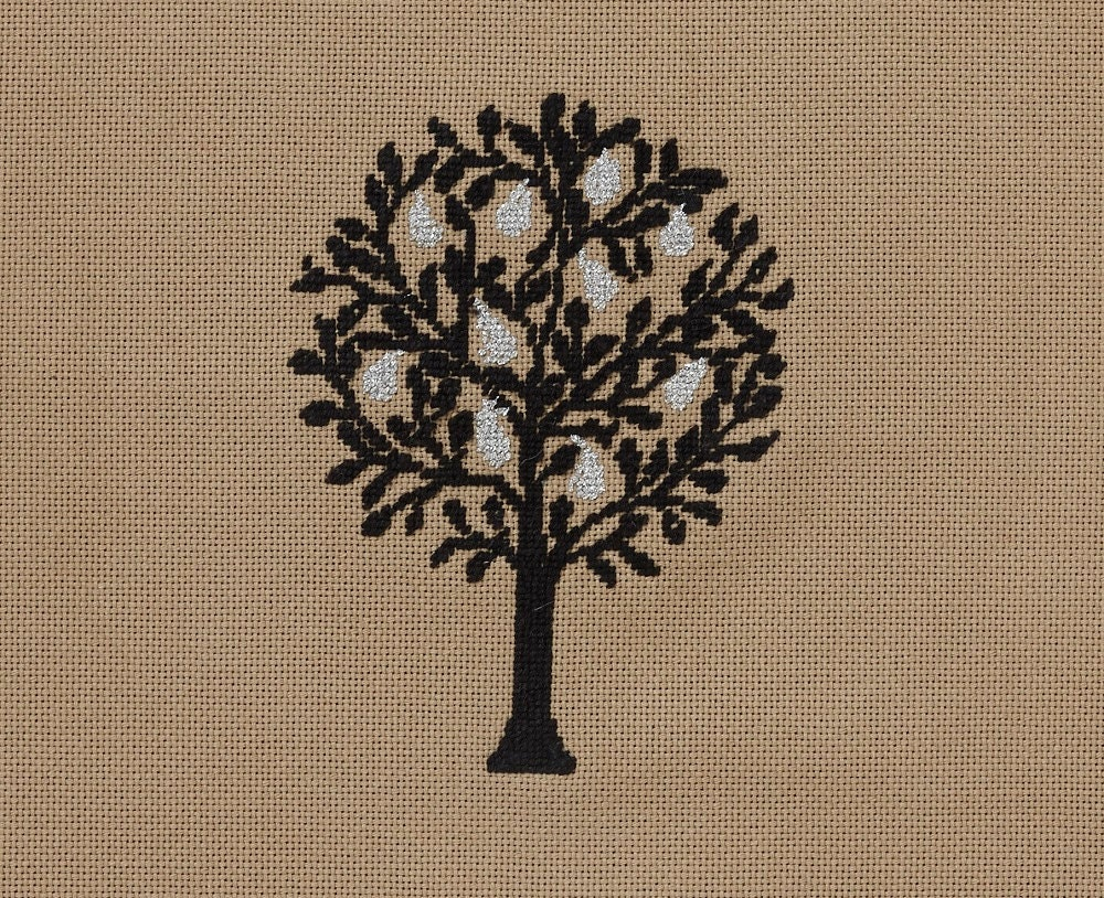 Cross stitch pattern pear tree zoom bankloansurffo Choice Image