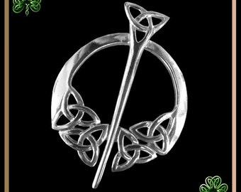 Penannular Brooch, Shawl Pin, Triskele, Celtic Knot
