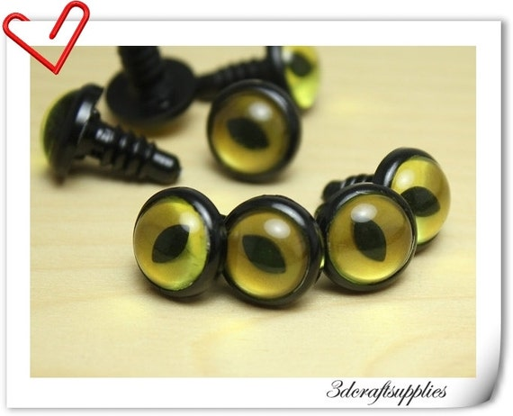 Safety Eyes Amigurumi Australia : 14mm Olive Gold Safety eye amigurumi eye doll eyes cat eye 14