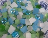 SALE..30% Off...Gorgeous Beach Glass Frosty Beach Glass Mosaic Tiles Beach Glass for Jewelry Mosaics Crafts Etc You Get a Generous 1 Pound