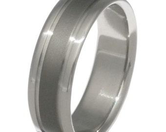 Titanium Wedding Band - Sable Finish Ring - sa9