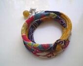Triple Wrap Chirimen Cord Bracelet