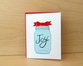 Set of 10 Mason Jar Christmas Cards