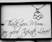 Mother Necklace with a Message Card - Sterling Silver Infinity Heart Necklace - Endless Love