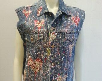 One of a Kind Artist Series Denim Vest