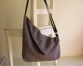 Grey Canvas Slouchy Messenger