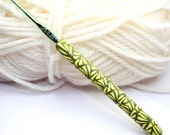 Polymer clay Crochet hook, new size D/3 or 3.25mm Boye brand hook, handmade ready to ship