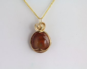 Cantera Mexican Opal Pendant. Listing 214946288