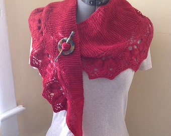 Acadia Cherry shawl