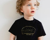funny toddler t-shirt organic kid's top hamburger 2T 4T 6T screen printed burger