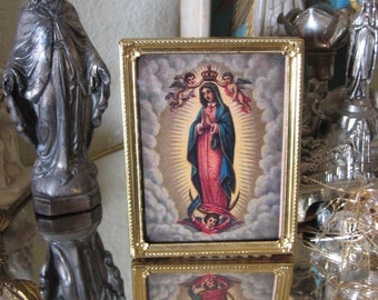 Vintage Framed GUADALUPE  Photo Frame-  Perfect gift for the one you love