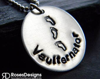 Gymnastics Vaulternator Necklace, Gymnastics Necklace, Personalized gifts, Sports Jewelry, by RosesDesigns