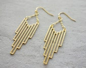 Empire Earings, Geometric earings, Art Deco Jewelry, signature earings, Architectural jewelry