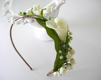 Lily of the Valley headband