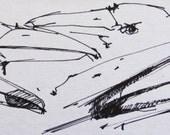Bird Shapes - ORIGINAL SKETCH