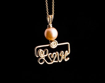 Gold filled name necklace