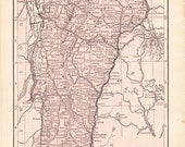 1913 State Map Vermont - Vintage Antique Map Great for Framing 100 Years Old