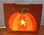 Appliqued Pumpkin Purse