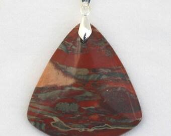Flame Agate Flame-Shaped Pendant