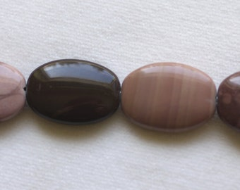 """16"""" Strand of Mookaite 14 x 20mm Oval Beads"""