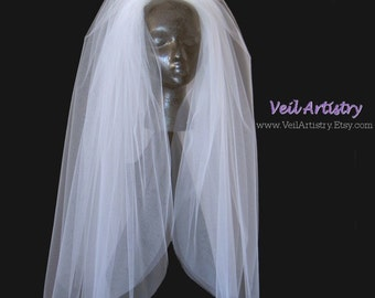 Wedding Veil, Short Veil, Classic Veil, Bouffant Veil, 3-Tier Veil, Waist Veil, Elbow Veil, Full Veil, Cut Edge Veil, Ready-to-Wear Veil