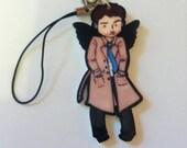 Supernatural Castiel Fanart Keychain