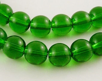 Dark Green - Transparent Glass Beads - 8mm - #GR8mm18Y