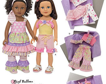 DOLL CLOTHES PATTERN / Make B outique Style Outfits / Fits American Girl  - 18 Inch Dolls / Lea
