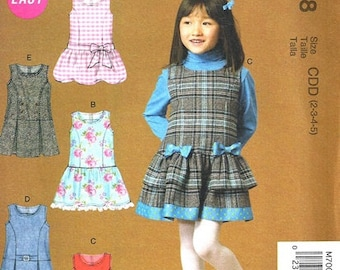 GIRLS JUMPER PATTERN / School Clothes / Four Styles