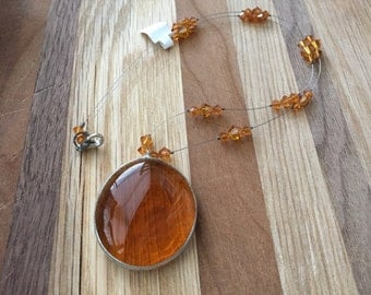 Honey Amber . Necklace .