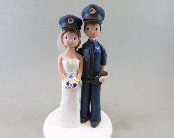 Custom Handmade Police Wedding Cake Topper