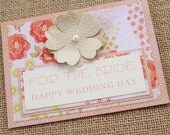 Handmade Bridal Card, Wedding Card, Bridal Shower Card, Greeting Card For The Bride