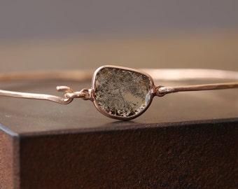 Champagne Diamond Slice Bracelet in rose gold