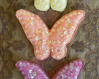 Sequined Butterfly Appliques