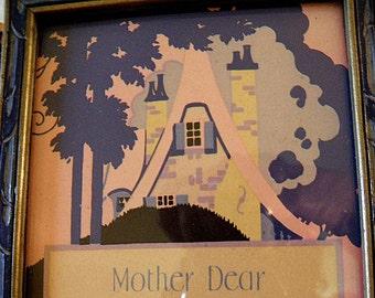 mother dear print framed under glass, bert bailey, 1928