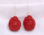 Buddha Cinnabar Earrings...