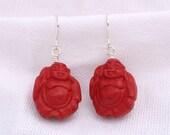 Buddha Cinnabar Earrings...