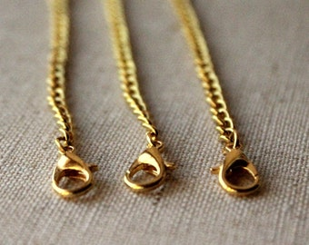 7 inch gold necklace extender chain, 18 cm gold extension chains for necklaces, Extend my gold chain necklace 18cm ONE or THREE SF128