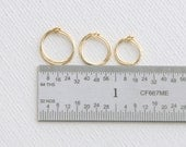 14K Yellow Gold Filled Huggie Hoop Earrings. Choose your size and gauge