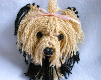 Yorkshire Terrier Crochet Dog Key Chain, Canine, Yorkie, Accessory, Stuffed Dog, Key Holder, Amigurumi, Yorkie