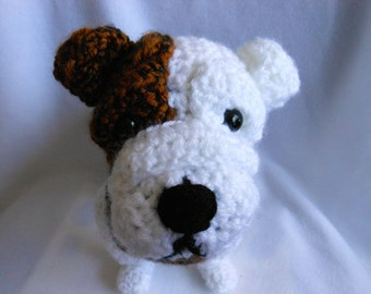 Custom Crochet Dog Made To Look like Owner's Dog, Bull Dog,  Dog Lover, Pet Memorial, Pet Remembrance, Stuffed Dog, Canine