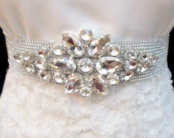 Bridal Rhinestone Sash Crystal Wedding Belt Beaded Luxury Sashes Belts