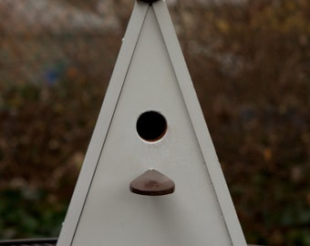 Upcycled A frame Reclaimed Bird House/Nest Box for Bluebird, Chickadee, Nuthatch, Titmouse or Carolina Wrens, bird lovers nesting nest home