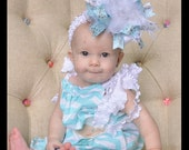 SALE Christmas Winter Frozen Princess Over The Top Funky Bow with Feather Center Free Shipping On Additional Items