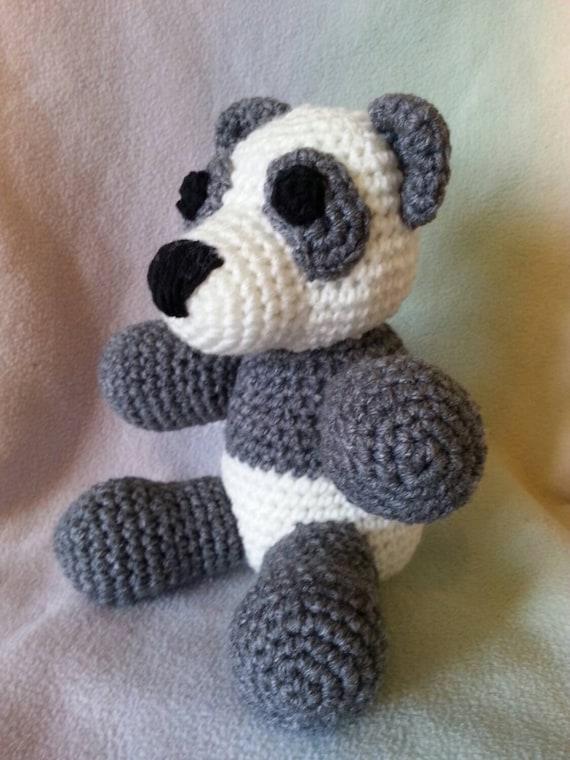 Crochet stuffed panda bear amigurumi crysbritescloset