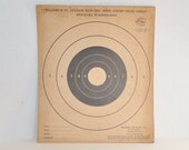 9 Vintage Pistol Targets - Williams 25 Yard Slow Fire White Center - Official Dimensions - 1950s