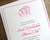 Printable Wedding Invitations - Hot Pink Elephant - Indian Wedding Invitation - Instant Download - Monsoon Wedding Invitations - Wedding PDF