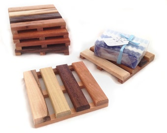 Reclaimed Wood Soap Pallet - made from a colorful wide variety of reclaimed woods
