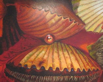 Scallops Oil Painting